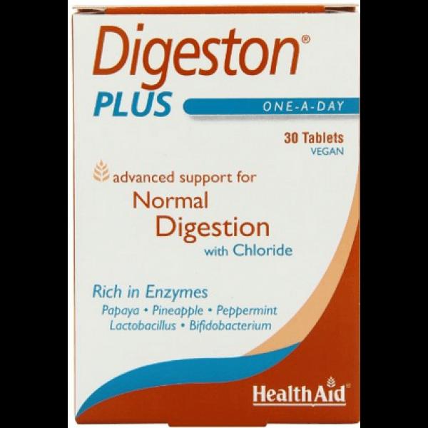 Health Aid Digeston Plus Digestive Enzymes Πεπτικά Ένζυμα 30tabs