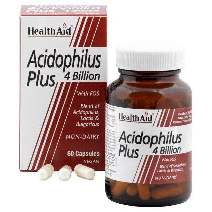 Health Aid Acidophilus Plus 4 bilion Συμπλήρωμα Διατροφής Προβιοτικών 60caps