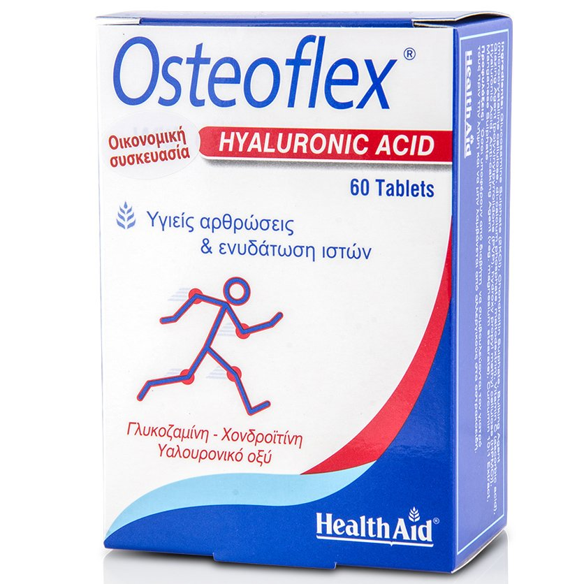 Health Aid Osteoflex Hyaluronic Συμπλήρωμα Διατροφής 60 ταμπλέτες
