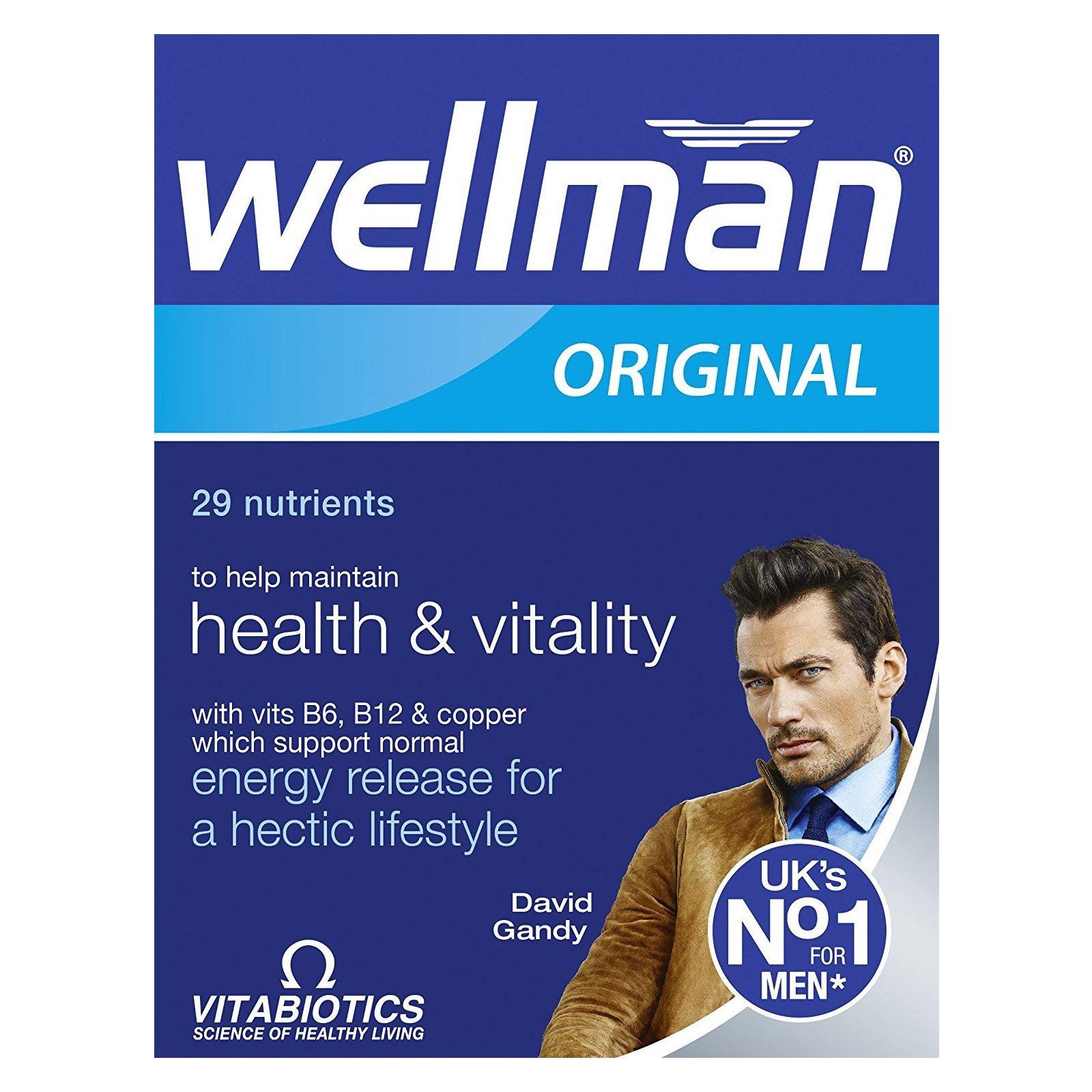 Vitabiotics Wellman Συμπλήρωμα Διατροφής Ειδικά Σχεδιασμένο για Άνδρες 30Tabs