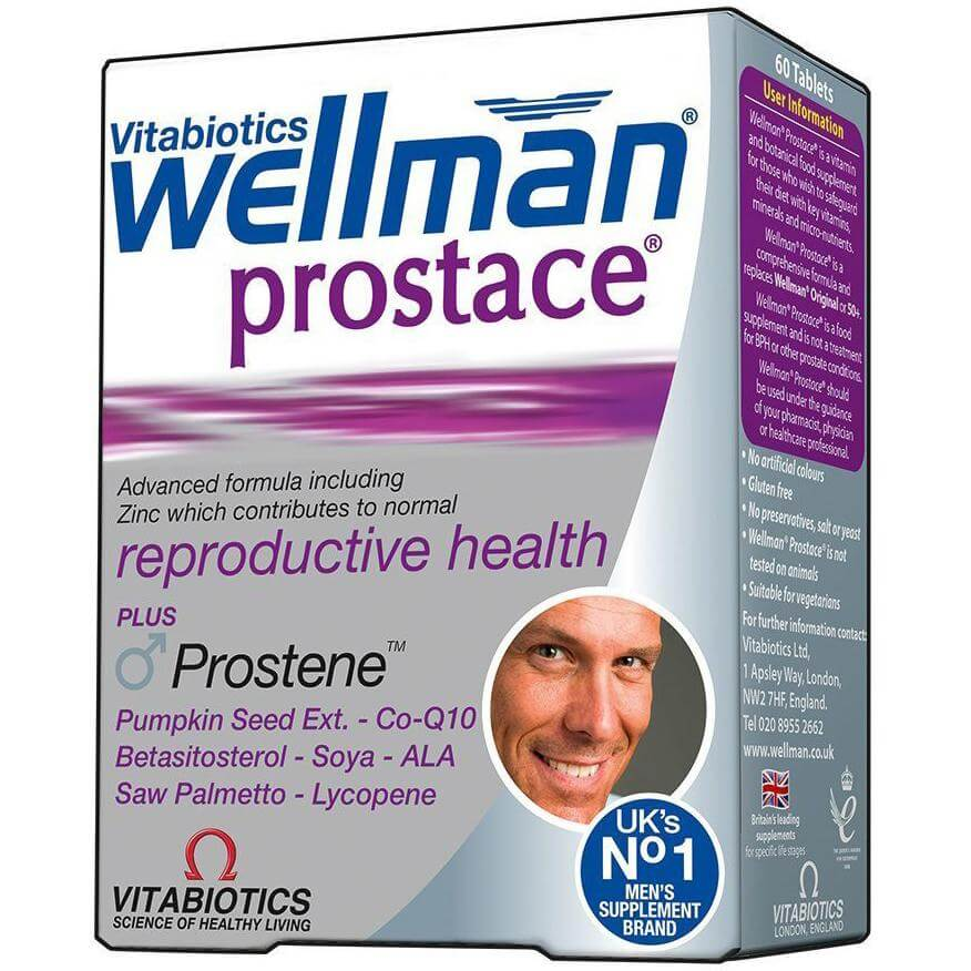 Vitabiotics Wellman Prostace Συμπλήρωμα Διατροφής για την Ανδρική Υγεία και Ιδιαίτερα την Υγεία του Προστάτη 60tabs