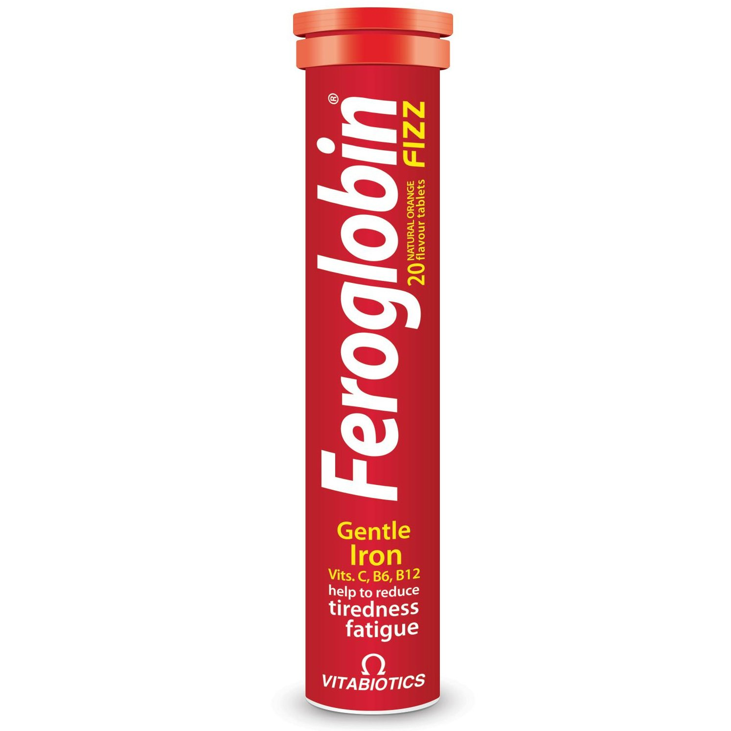 Vitabiotics Feroglobin Fizz Συμπλήρωμα Διατροφής Σιδήρου & Φυλλικού Οξέως σε Αναβράζουσα Μορφή 20effer.tabs