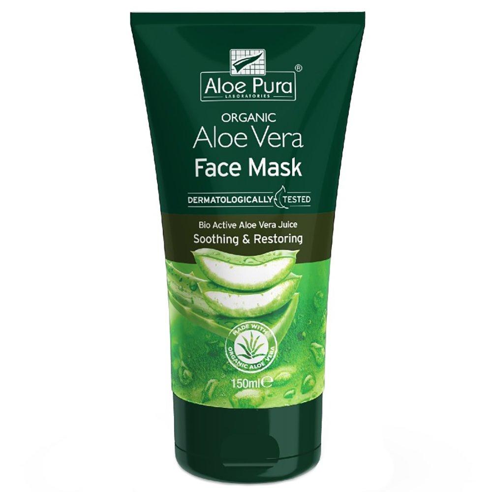Aloe Pura Organic Aloe Vera Soothing & Restoring Face Mask Αναζωογονητική & Καταπραϋντική Μάσκα Προσώπου με Αλόη Βέρα 150ml