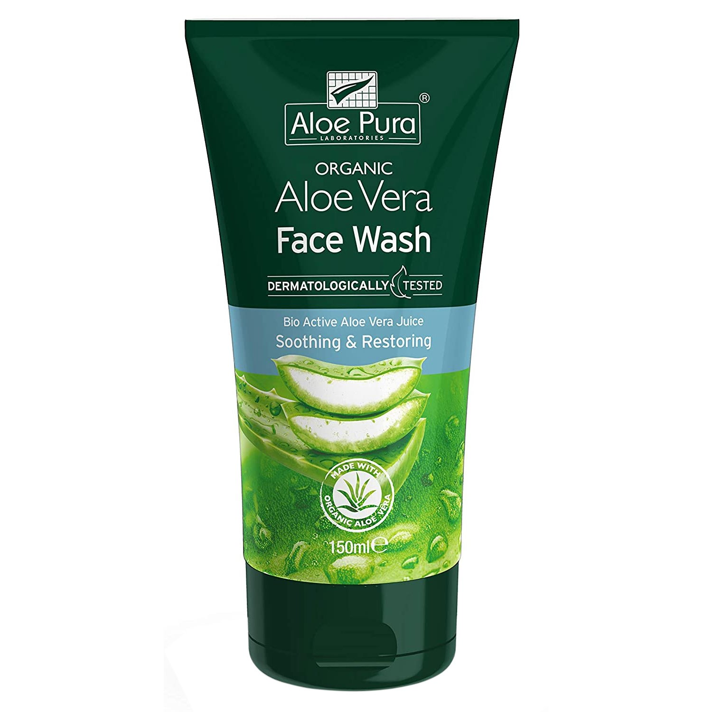 Aloe Pura Organic Aloe Vera Soothing & Restoring Face Wash Gel Καταπραϋντικό & Ενυδατικό Καθαριστικό Προσώπου με Αλόη Βέρα 150ml