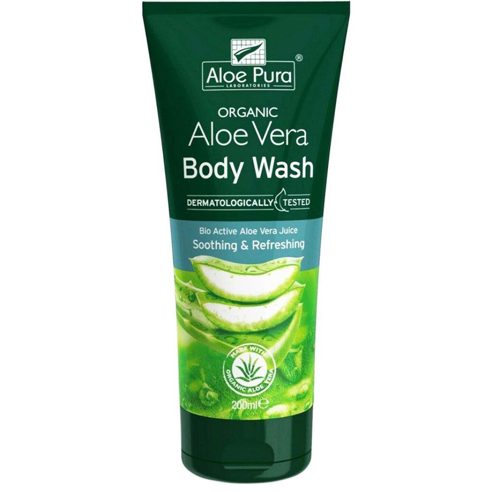 Aloe Pura Organic Aloe Vera Soothing & Refreshing Body Wash Αναζωογονητικό & Καταπραϋντικό Αφρόλουτρο με Αλόη Βέρα 200ml