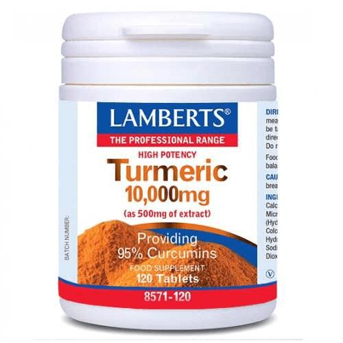 Lamberts Turmeric Κουρκουμίνη 10000mg 120tabs