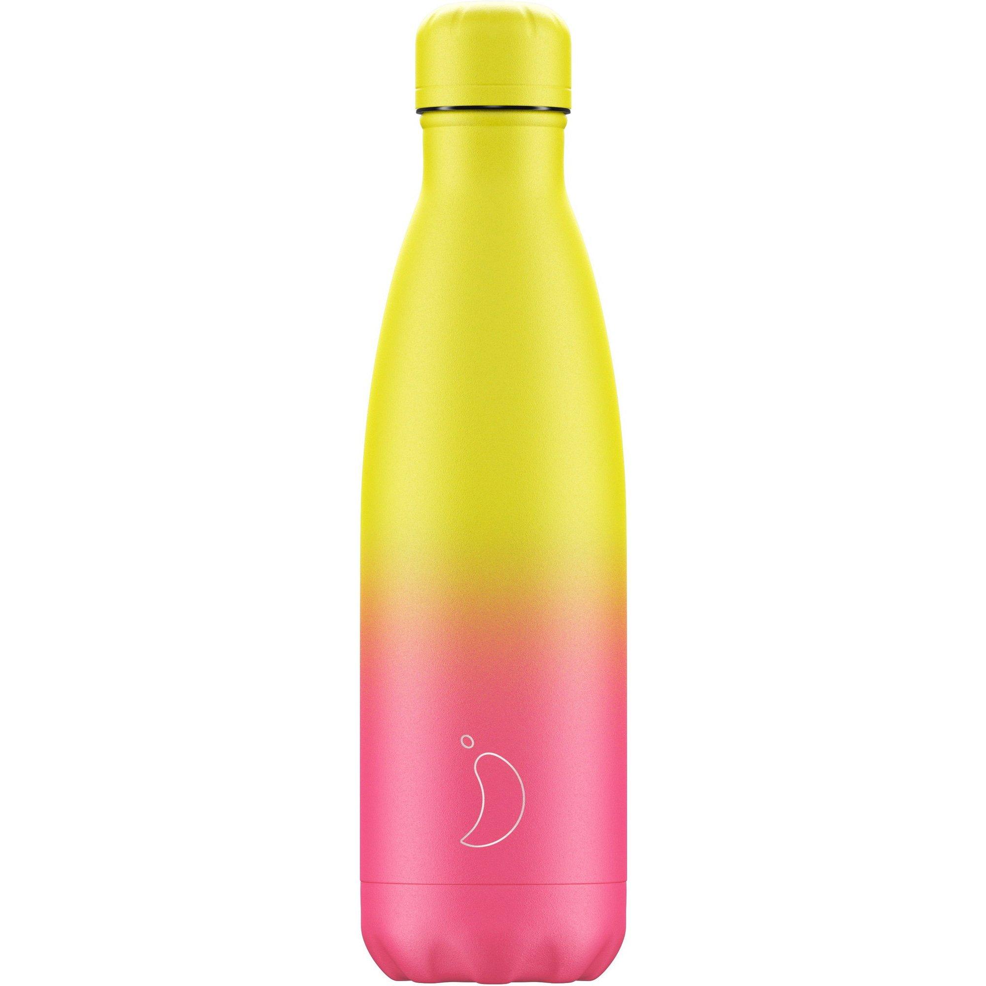 Chilly's Bottle Gradient Edition Neon Ανοξείδωτο Θερμός σε Ροζ με Κίτρινο Χρώμα 500ml