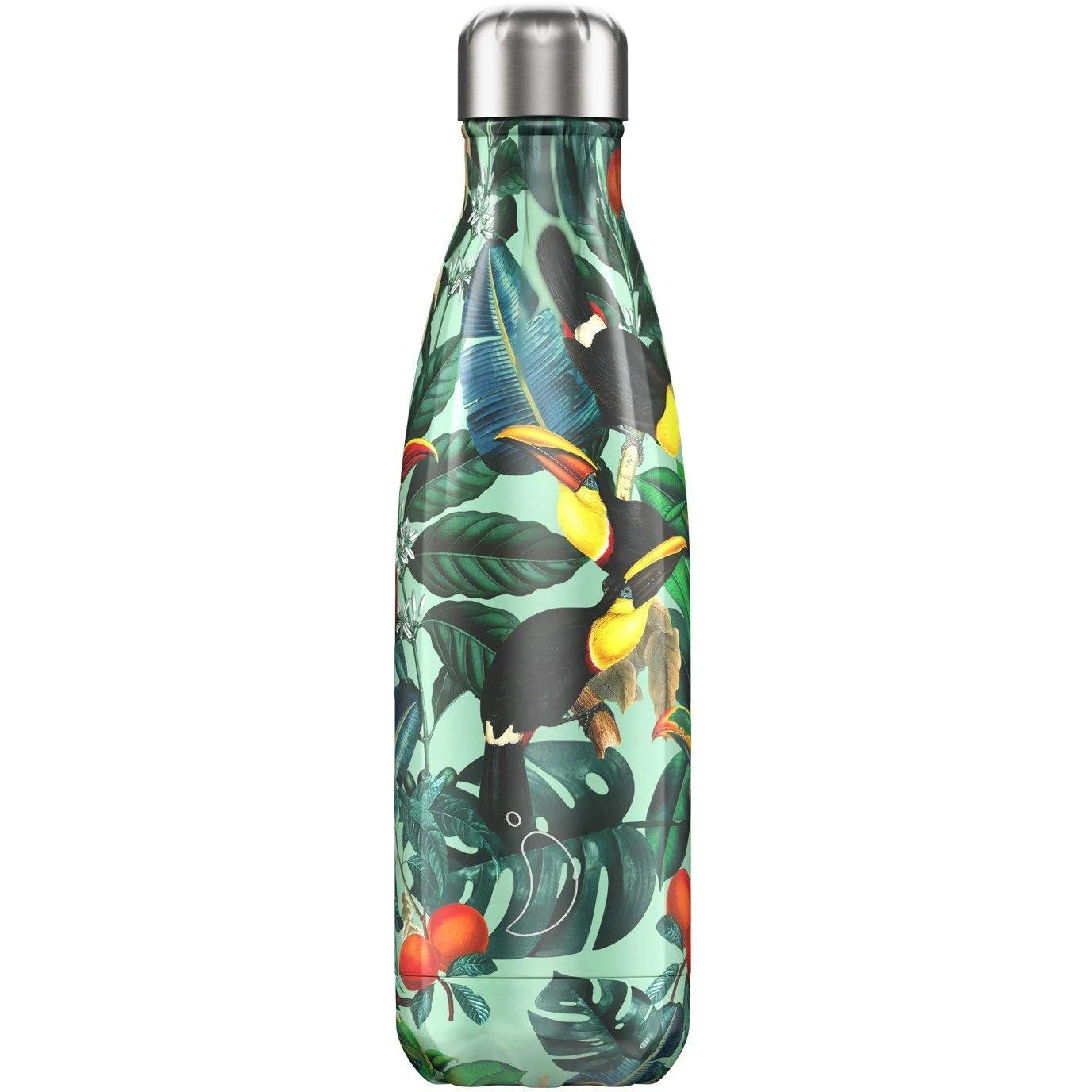 Chilly's Bottle Tropical Edition Toucan Ανοξείδωτο Θερμός Τροπικά Πουλιά 500ml
