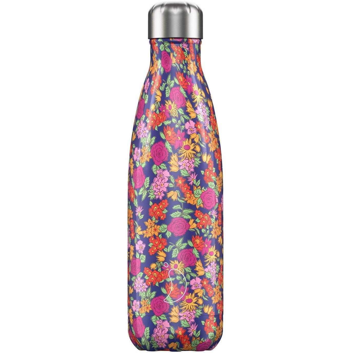 Chilly's Bottle Floral Edition Wild Rose Ανοξείδωτο Θερμός με Σχέδιο Λουλουδιών 500ml
