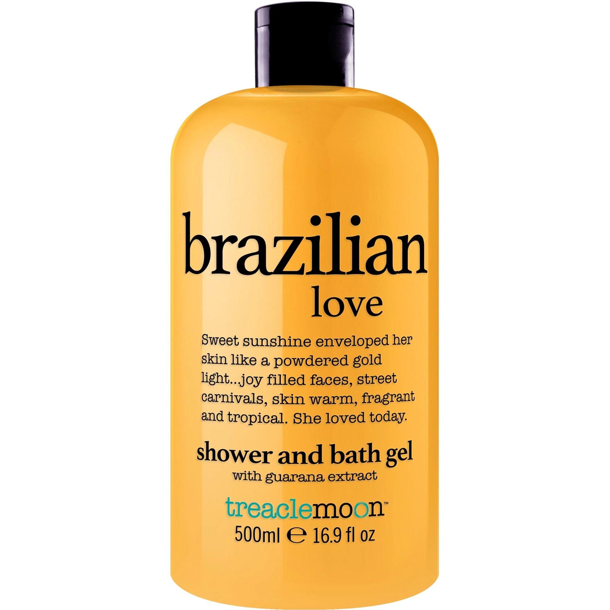 Treaclemoon Brazilian Love Shower & Bath Gel Αναζωογονητικό & Ενυδατικό Αφρόλουτρο Σώματος με Εκχύλισμα Γκουαρανά 500ml