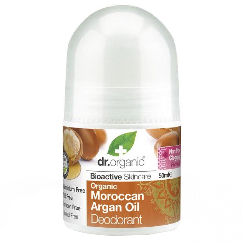 Dr Organic Moroccan Argan Oil Deodorant Αποσμητικό σε Μορφή Roll on με Βιολογικό Μαροκινό Έλαιο Αργκάν 50ml