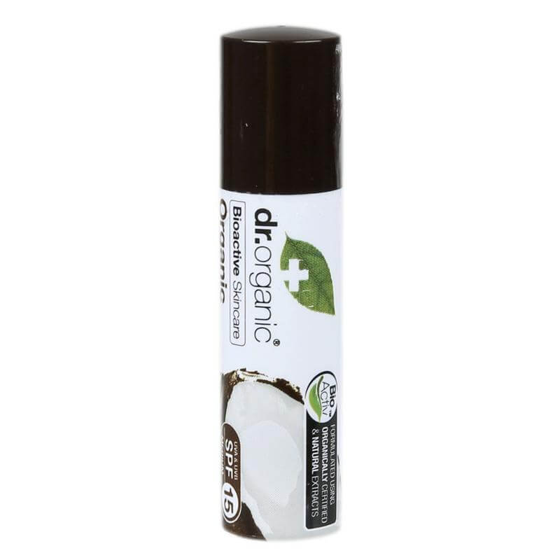 Dr Organic Lip Balm Χειλιών με Βιολογικό Έλαιο Καρύδας 10ml