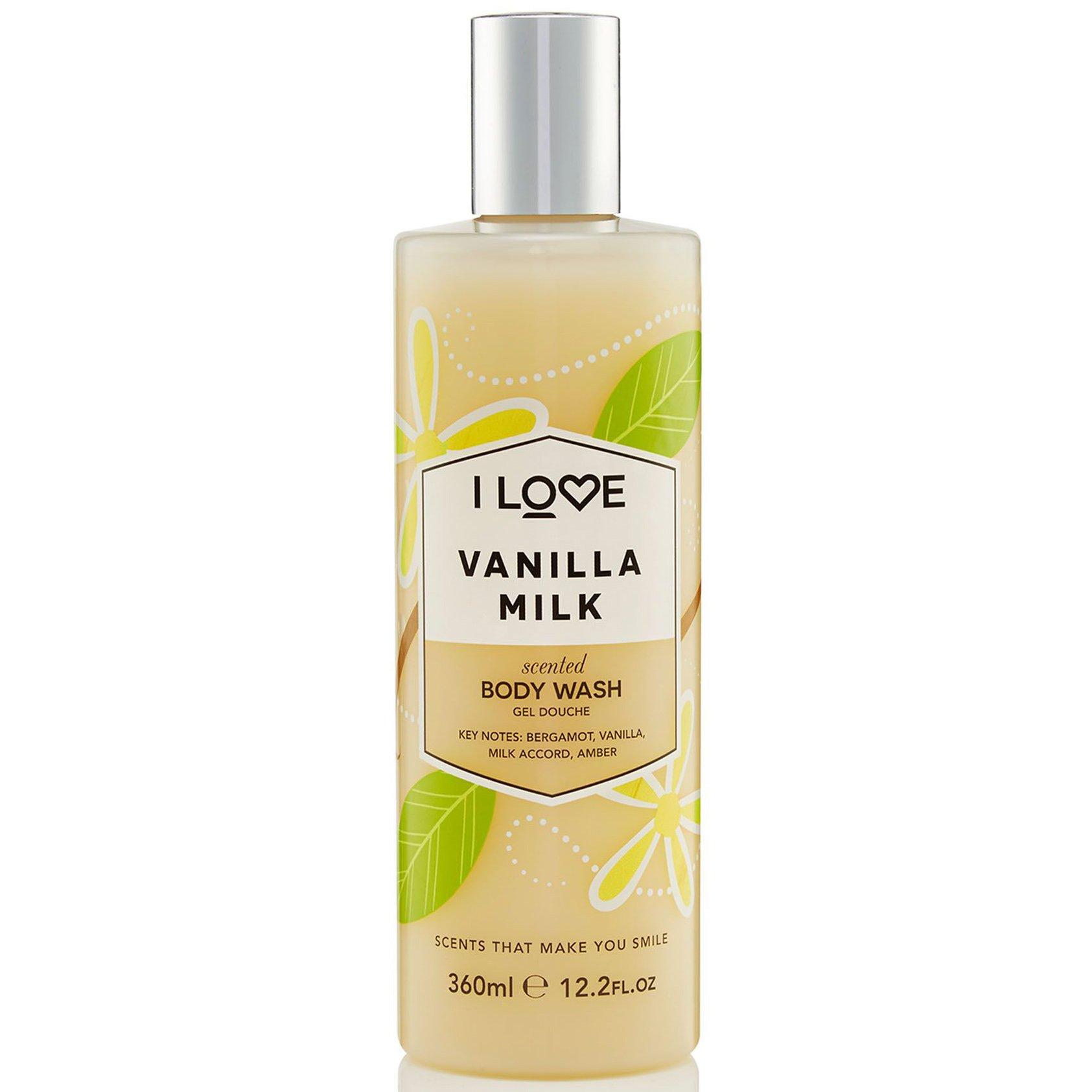 I love… Vanilla Milk Body Wash Κρεμώδες Αφρόλουτρο με Εκχυλίσματα Φρούτων για Απαλή & Μεταξένια Επιδερμίδα 360ml