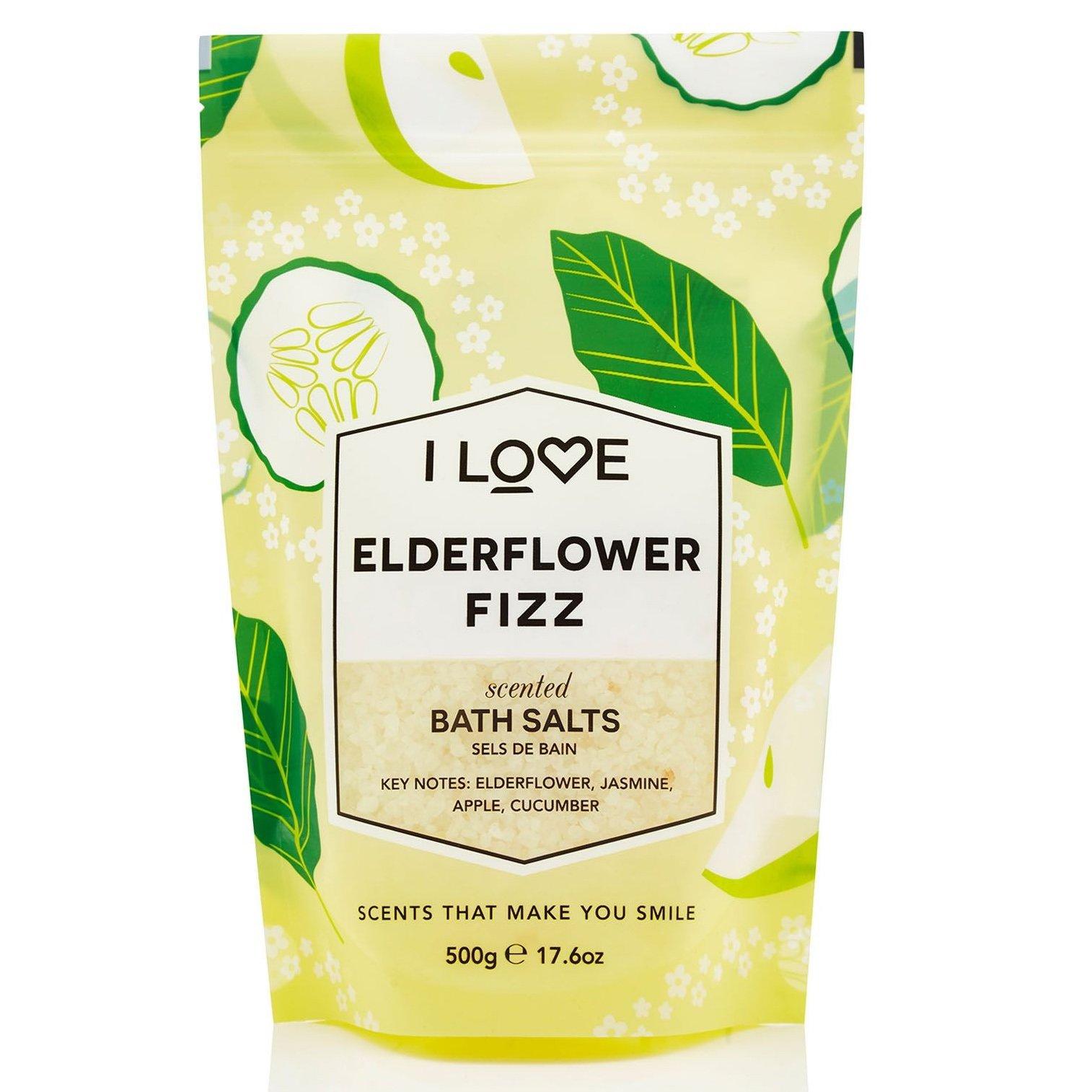I love… Elderflower Fizz Scented Bath Salts Άλατα Μπάνιου με Υπέροχο Άρωμα από Εκχυλίσματα Φρούτων 500gr