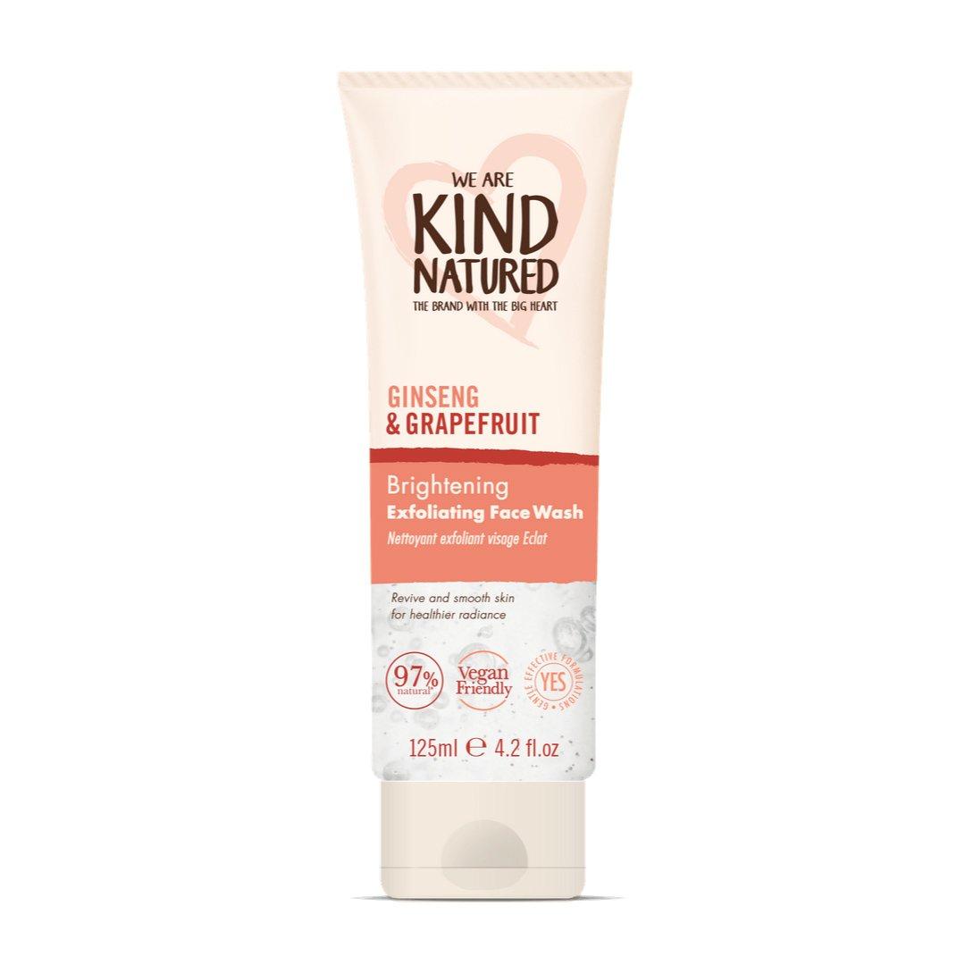Kind Natured Brightening Ginseng & Grapefruit Exfoliating Face Wash Gel Καθαρισμού & Απολέπισης για Λάμψη της Επιδερμίδας 125ml