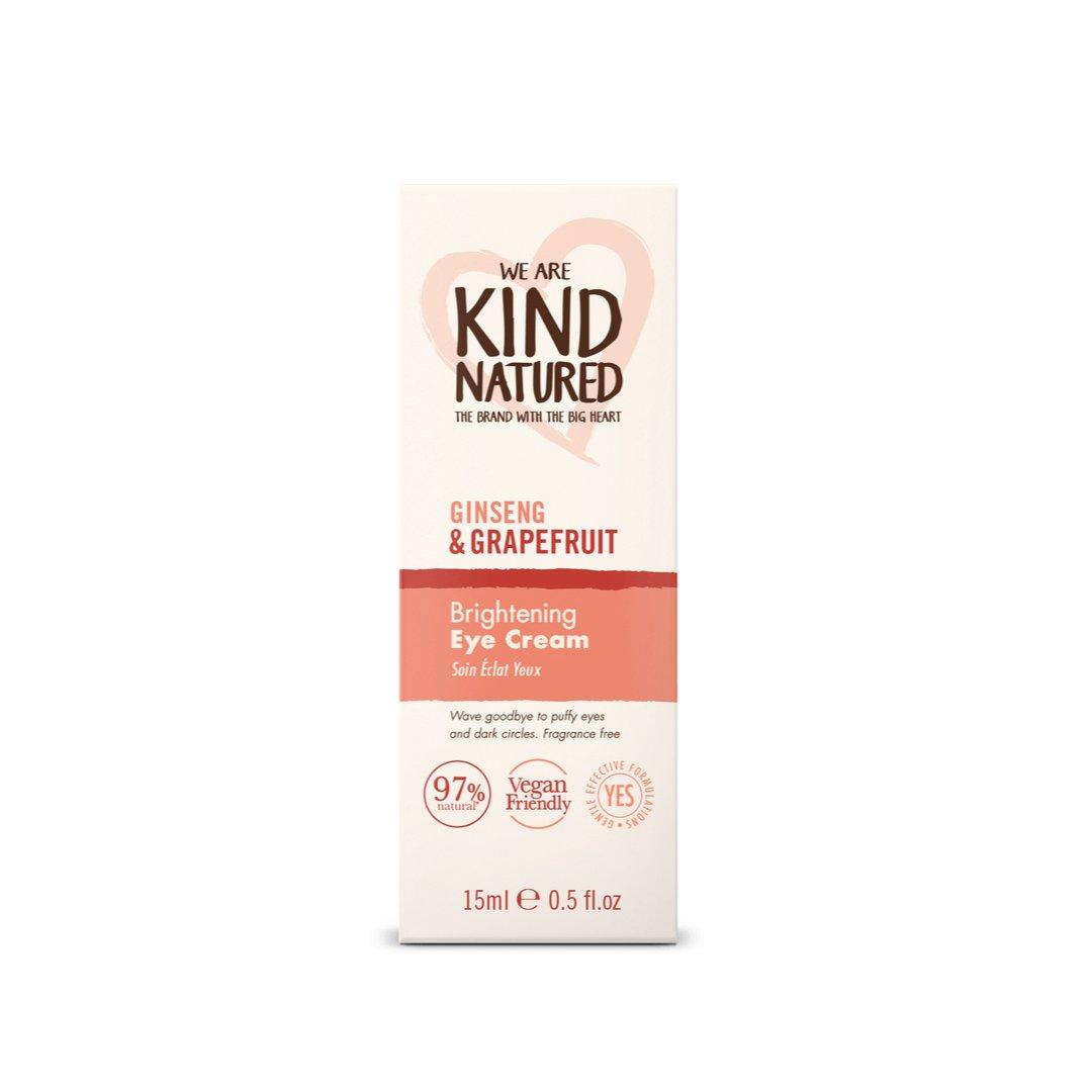 Kind Natured Brightening Ginseng & Grapefruit Eye Cream Αναζωογονητική Κρέμα Ματιών Κατά της Κούρασης & των Μαύρων Κύκλων 15ml