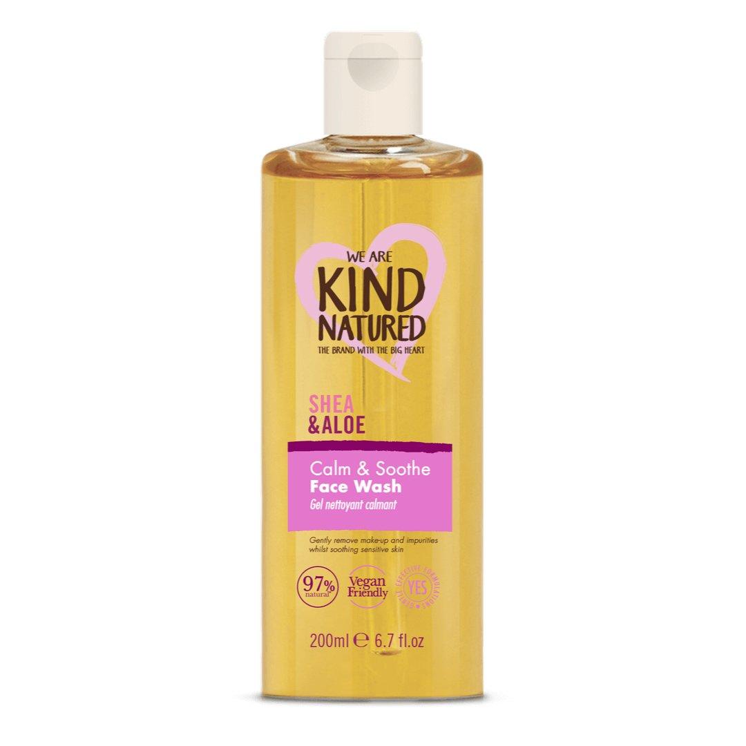 Kind Natured Calm & Soothe Shea & Aloe Cleansing Face Wash Απαλό Gel Καθαρισμού & Ντεμακιγιάζ της Ευαίσθητης Επιδερμίδας 200ml