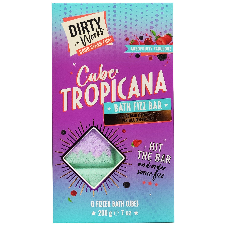 Dirty Works Cube Tropicana Bath Fiz Bar Μπάρα Αρωματικών Αλάτων για Αναζωογονητικό Αφρόλουτρο 200gr