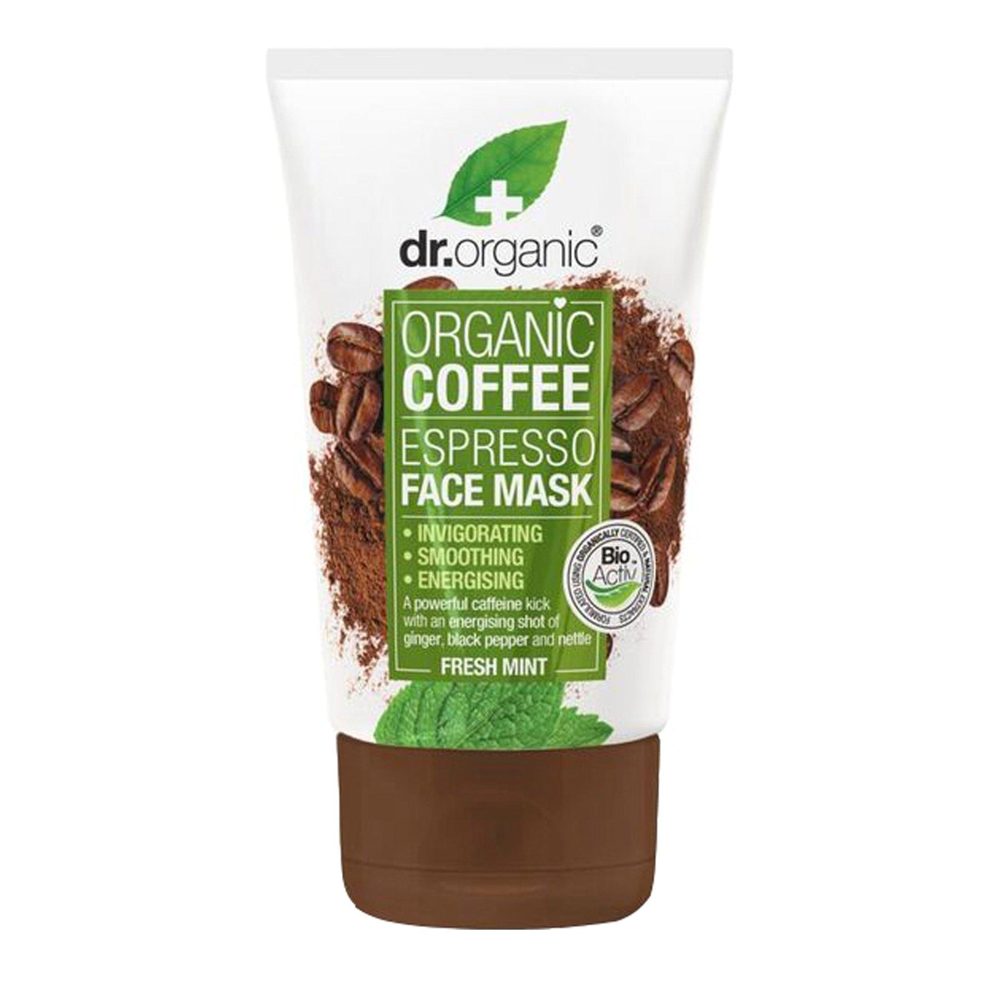 Dr. Organic Coffee Espresso Face Mask with Fresh Mint Αναζωογονητική Μάσκα Προσώπου 125ml