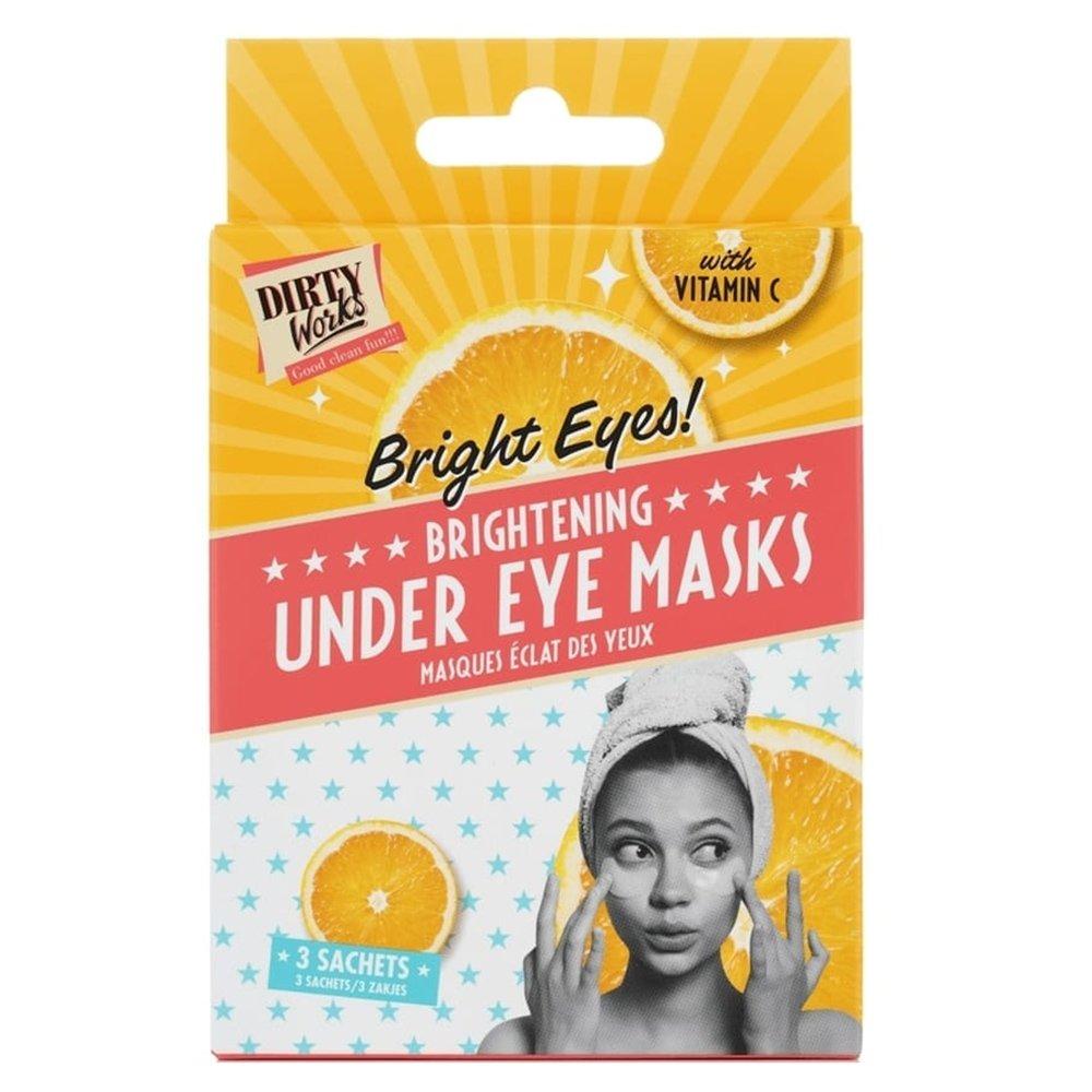 Dirty Works Bright Eyes Brightening Under Eyes Masks with Vitamin C Μάσκα Περιποίησης Ματιών με Βιταμίνη C 3 Ζεύγη