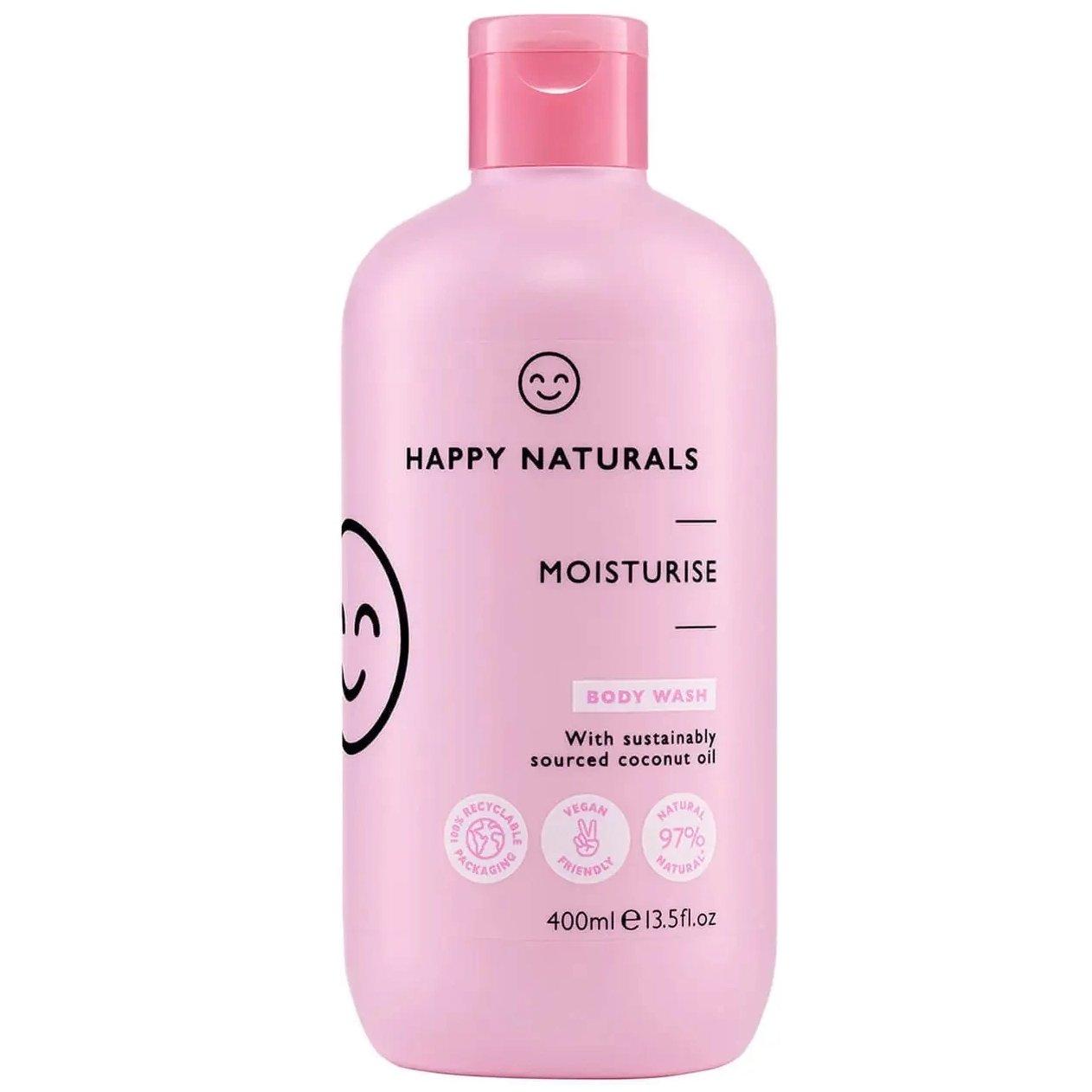 Happy Naturals Moisturise Body Wash Ενυδατικό Κρεμώδες Αφρόλουτρο για Απαλή, Αρωματισμένη Επιδερμίδα 400ml