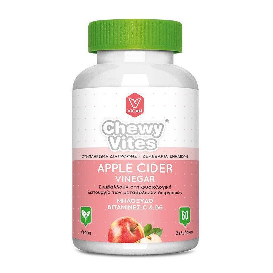 Chewy Vites Adults Apple Cider Vinegar Συμπλήρωμα Διατροφής για Ενήλικες, με Μηλόξυδο & Βιταμίνες C & B6, 60 Ζελεδάκια