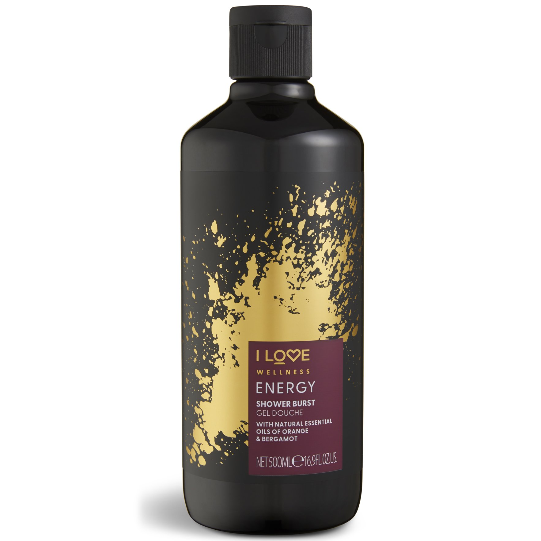 I love… Wellness Energy Shower Burst Gel Douche Αναζωογονητικό Αφρόλουτρο με Φυσικά Αιθέρια Έλαια 500ml