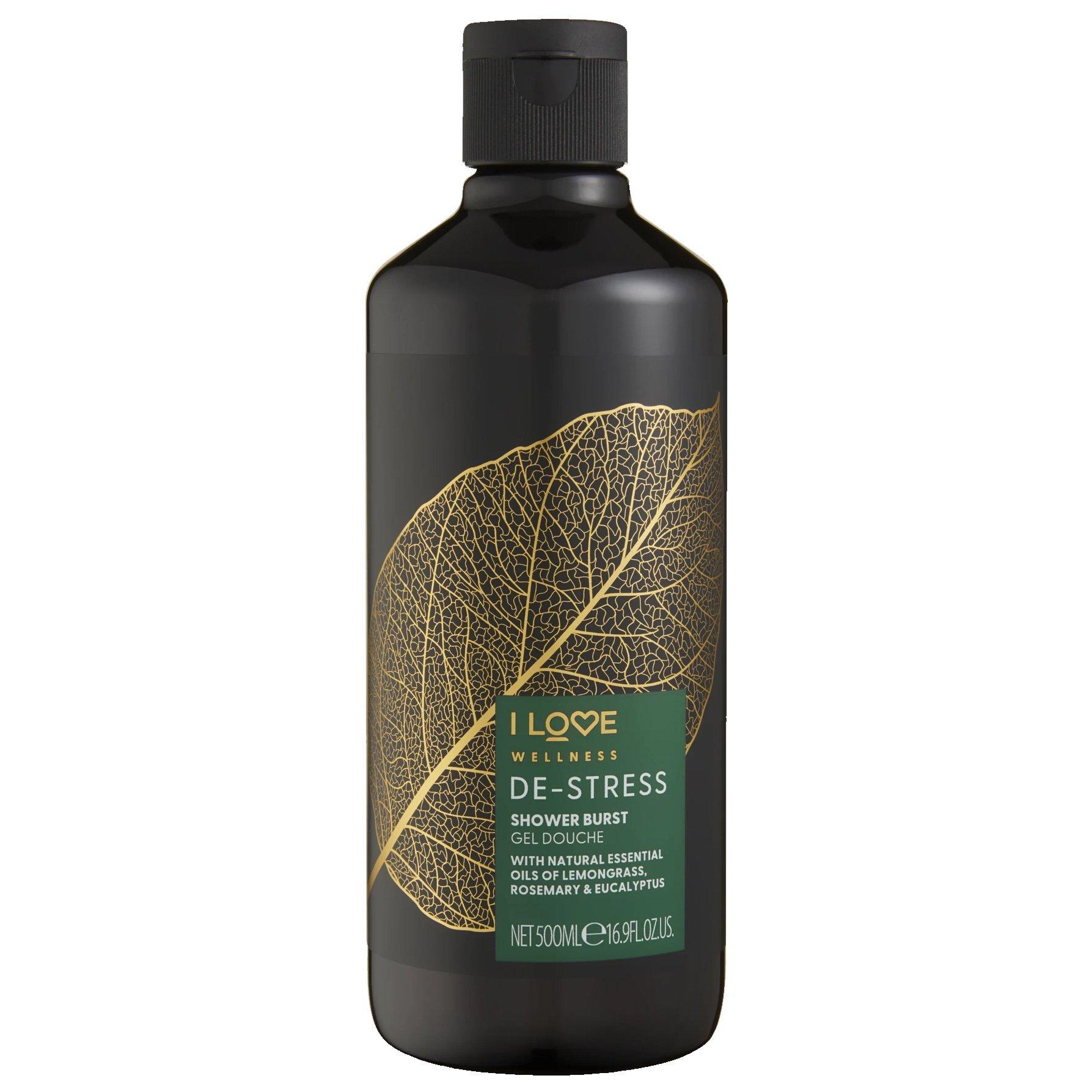 I love… Wellness De-Stress Shower Burst Gel Douche Χαλαρωτικό Αφρόλουτρο με Φυσικά Αιθέρια Έλαια 500ml
