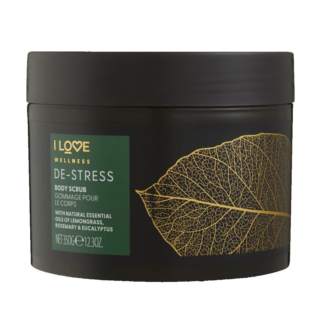 I love… Wellness De-Stress Body Scrub Χαλαρωτικό Scrub Σώματος με Φυσικά Αιθέρια Έλαια για Απαλή Επιδερμίδα 350gr
