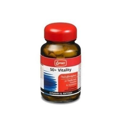 Lanes Multivitamin 50+ Vitality Συμπλήρωμα Διατροφής Με Πολυβιταμίνες 30tabs