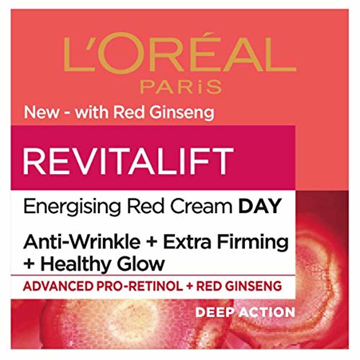 L'oreal Paris Revitalift Energising Red Cream Day Κρέμα Ημέρας με Αντιρυτιδική & Συσφικτική Δράση 50ml