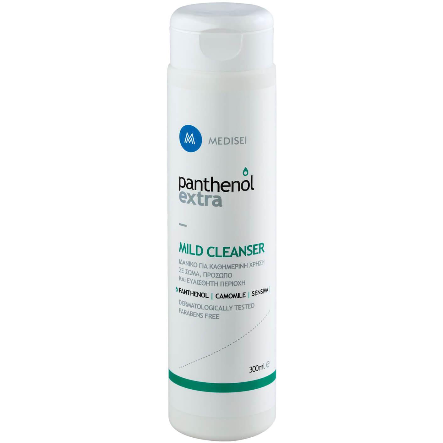 Medisei Panthenol Extra Mild Cleanser Απαλό Καθαριστικό για Πρόσωπο, Σώμα & Ευαίσθητη Περιοχή 300ml