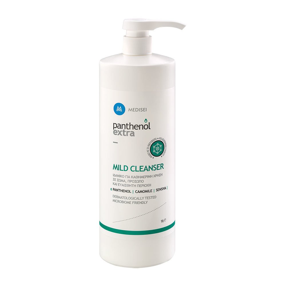 Medisei Panthenol Extra Mild Cleanser Απαλό Καθαριστικό για Πρόσωπο, Σώμα & Ευαίσθητη Περιοχή 1L