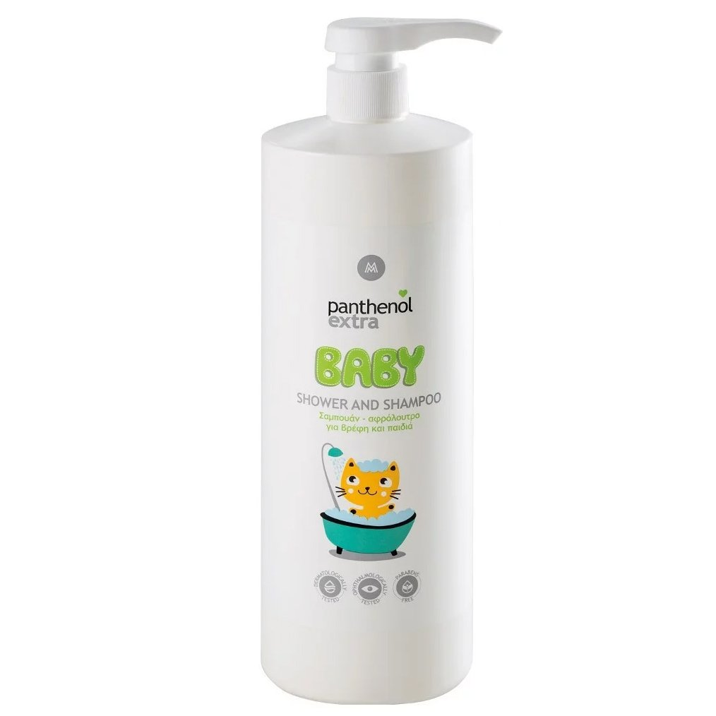 Medisei Panthenol Extra Baby Shower & Shampoo Σαμπουάν-Αφρόλουτρο για Βρέφη και Παιδιά, Κατάλληλο για Καθημερινή Χρήση 1Lt
