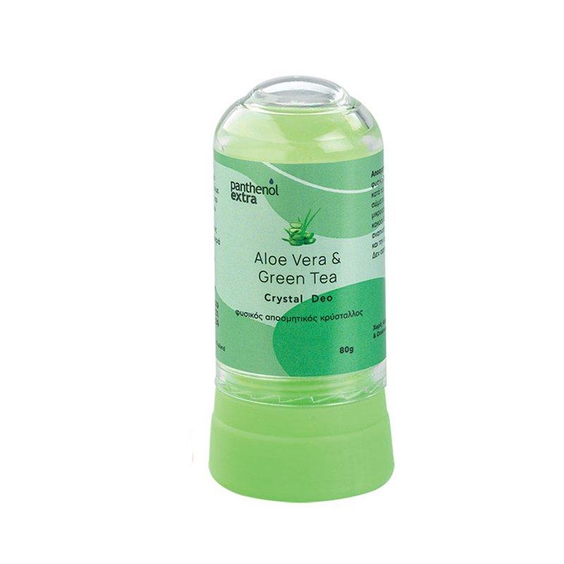 Medisei Panthenol Extra Aloe Vera & Green Tea Crystal Deo Αποσμητικό Στικ Φυσικού Κρυστάλλου με Αλόη & Πράσινο Τσάι 8gr