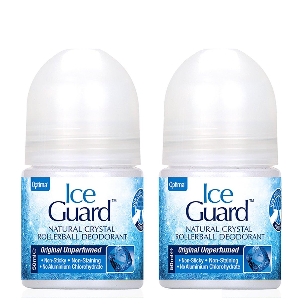 Optima Πακέτο Προσφοράς Ice Guard Rollerball Deodorant Αποσμητικό Από Φυσικά Μεταλλικά Άλατα 2x50ml, -50% στο 2ο Προϊόν