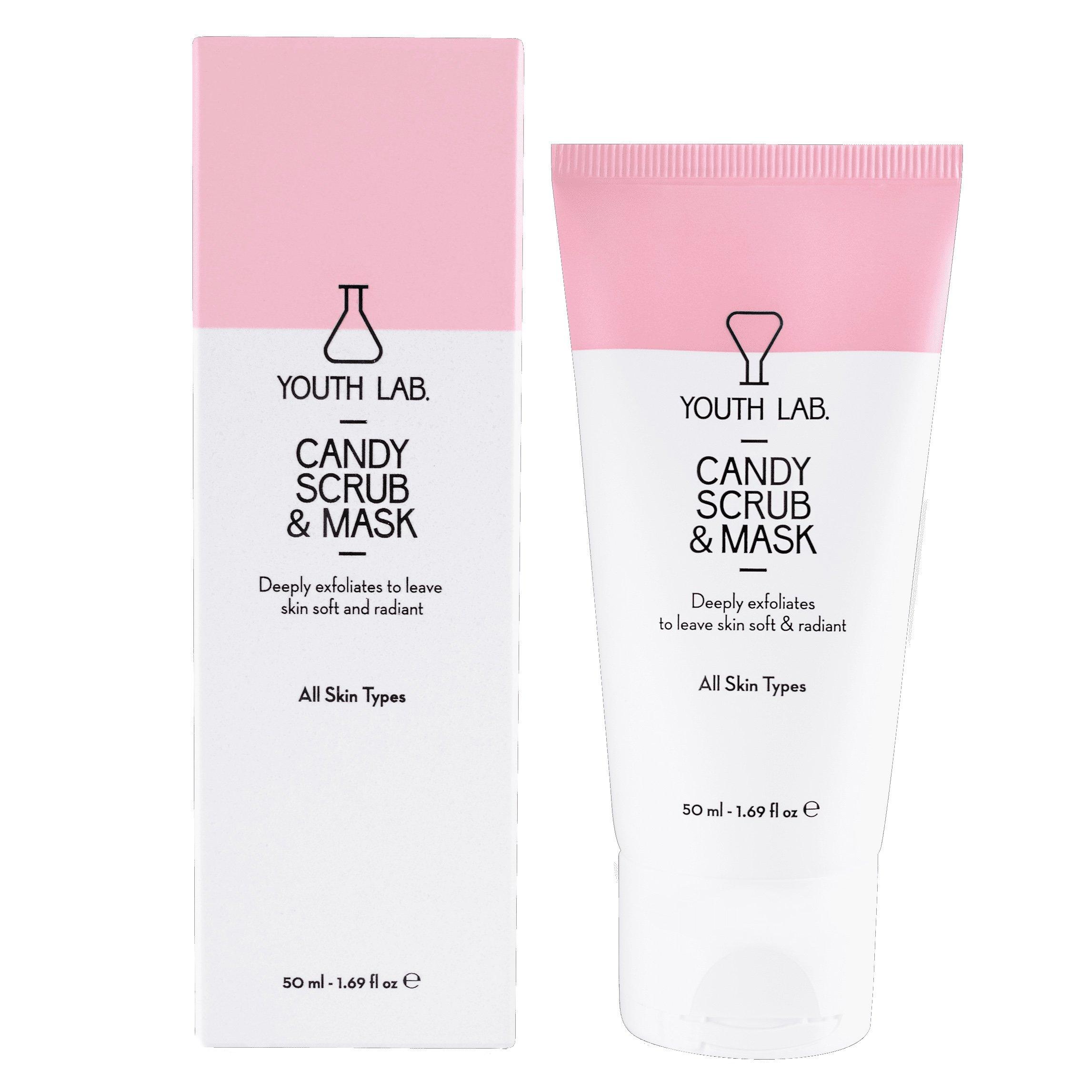 YOUTH LAB. Candy Scrub & Mask Κρέμα Απολέπισης & Μάσκα Προσώπου για Εξισορρόπηση & Απαλότητα της Επιδερμίδας 50ml