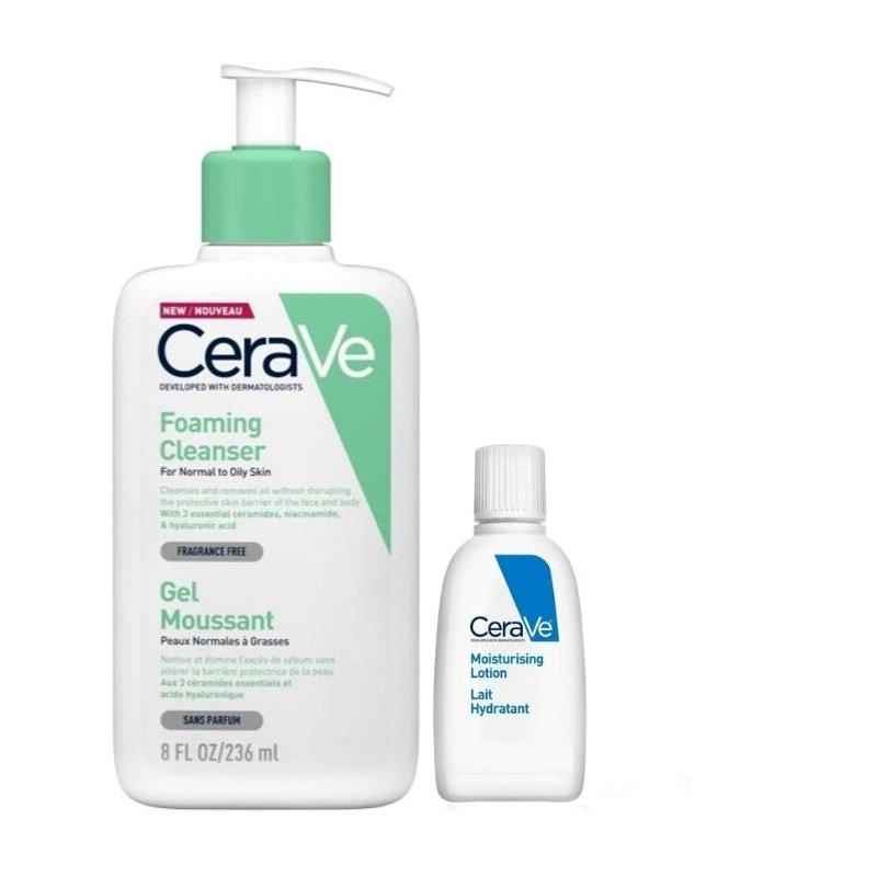 CeraVe Foaming Cleanser για Κανονικό Έως Λιπαρό Δέρμα 236ml + Δώρο Moisturising Lotion 5ml