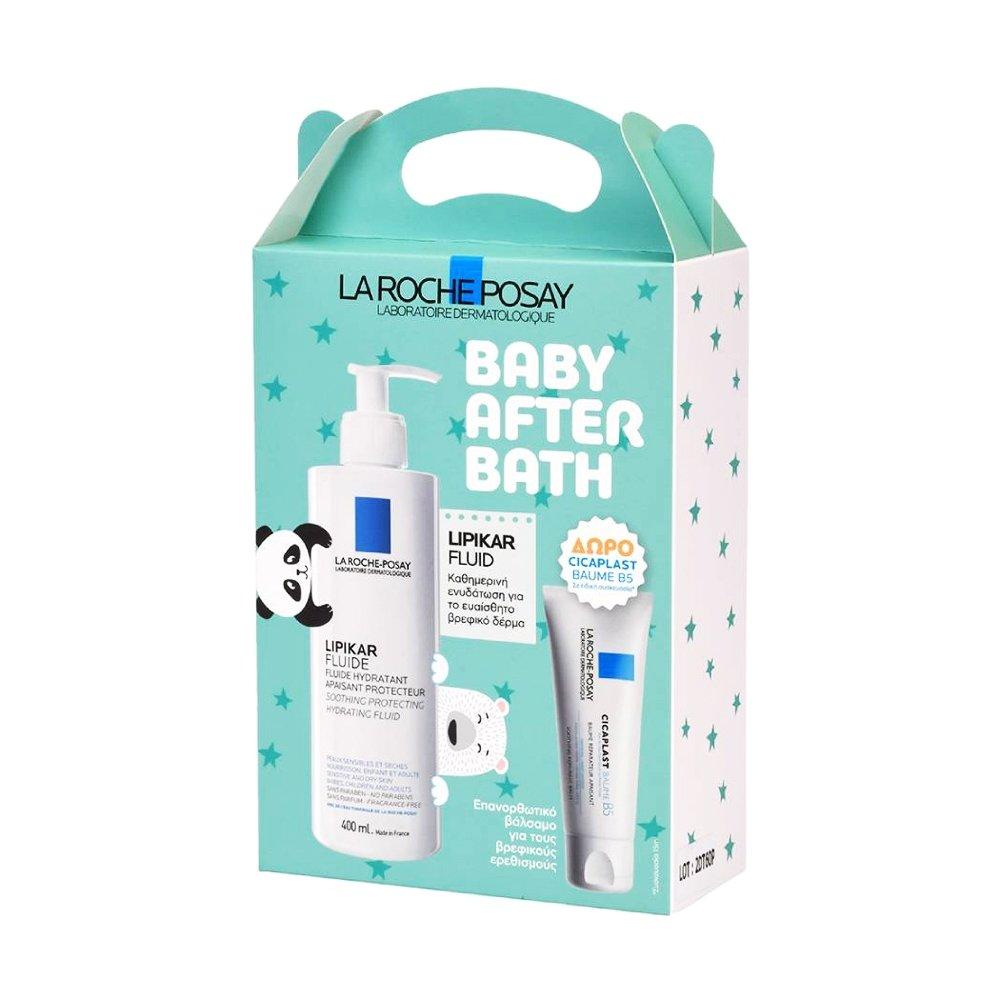 La Roche-Posay Promo Baby After Bath Lipikar Fluide Hydratant 400ml & Cicaplast Baume B5 15ml