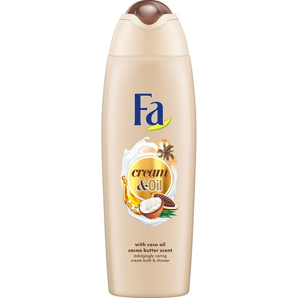 Fa Foam Bath Cream & Oil Cacao Κρεμώδες Αφρόλουτρο με Έλαιο Καρύδας & Βούτυρο Κακάο για Αίσθηση Απαλότητας στο Ξηρό Δέρμα 750ml
