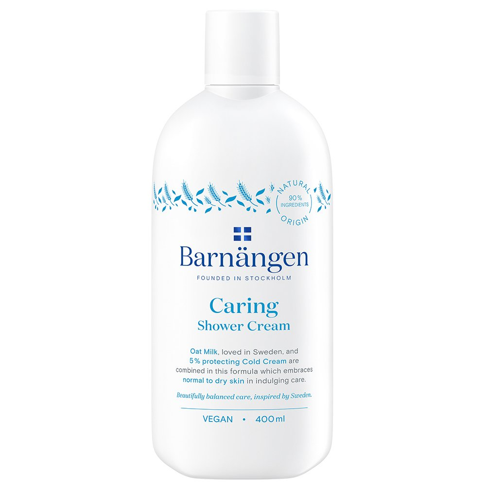 Barnangen Shower Cream Caring Κρεμώδες Αφροντούς με Γάλα Βρώμης & 5% Cold Cream για Κανονικές Προς Ξηρές Επιδερμίδες 400ml
