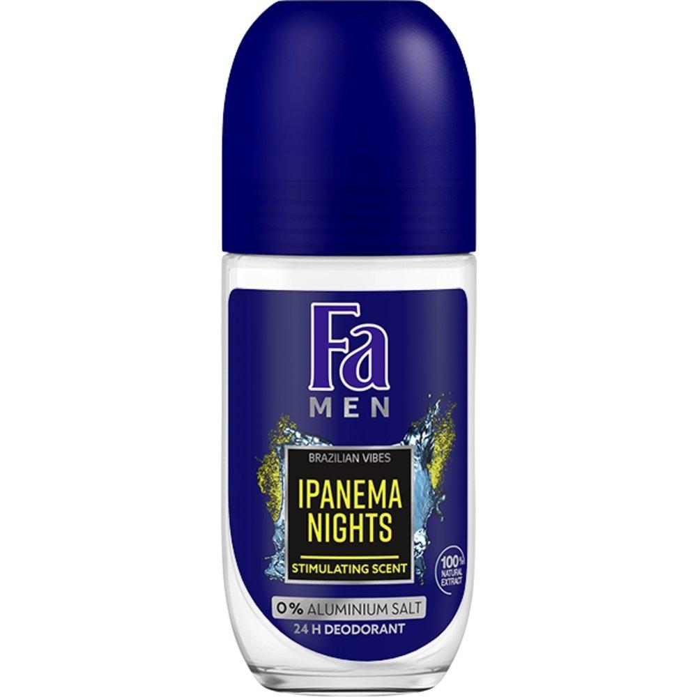 Fa Men Deo Roll-On Ipanema Nights 48H Ανδρικό Αποσμητικό, Μέγιστη Φρεσκάδα & Άρωμα Μεγάλης Διάρκειας 50ml