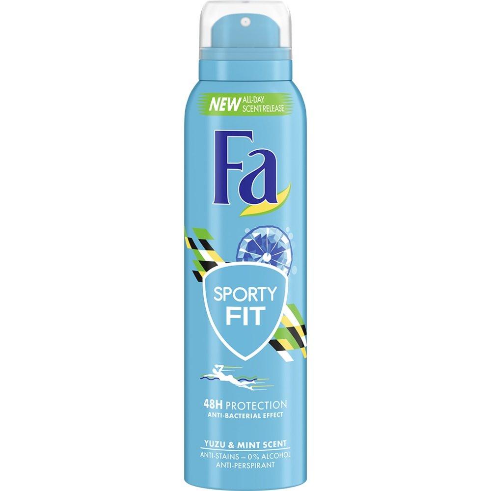 Fa Deodorant Spray Sporty Fit 48H Αποσμητικό 48ωρης Προστασίας από την Εφίδρωση & την Κακοσμία με Αντιβακτηριδιακή Δράση 150ml