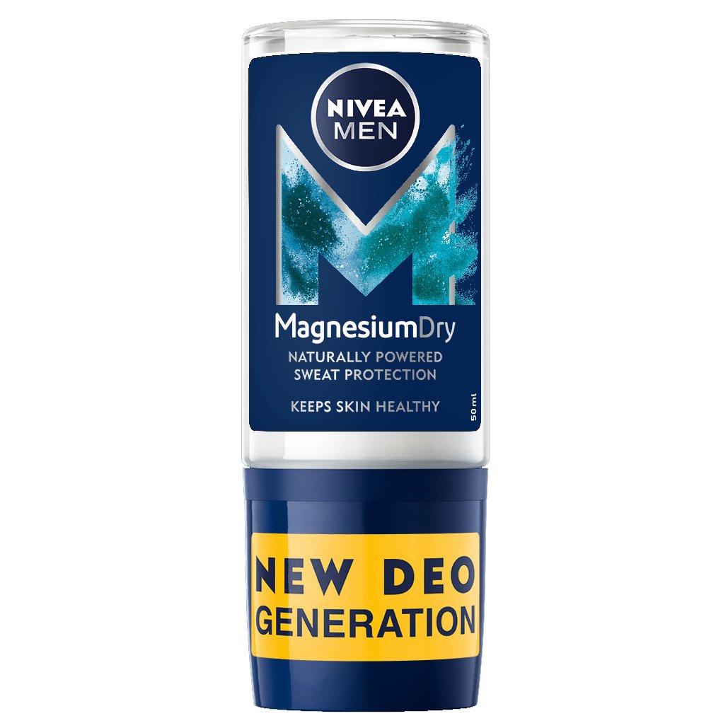 Nivea Men Magnesium Dry 48h Protection Roll on Deo Ανδρικό Αποσμητικό 48ωρης Προστασίας με Ενεργό Μαγνήσιο 50ml Promo -40%