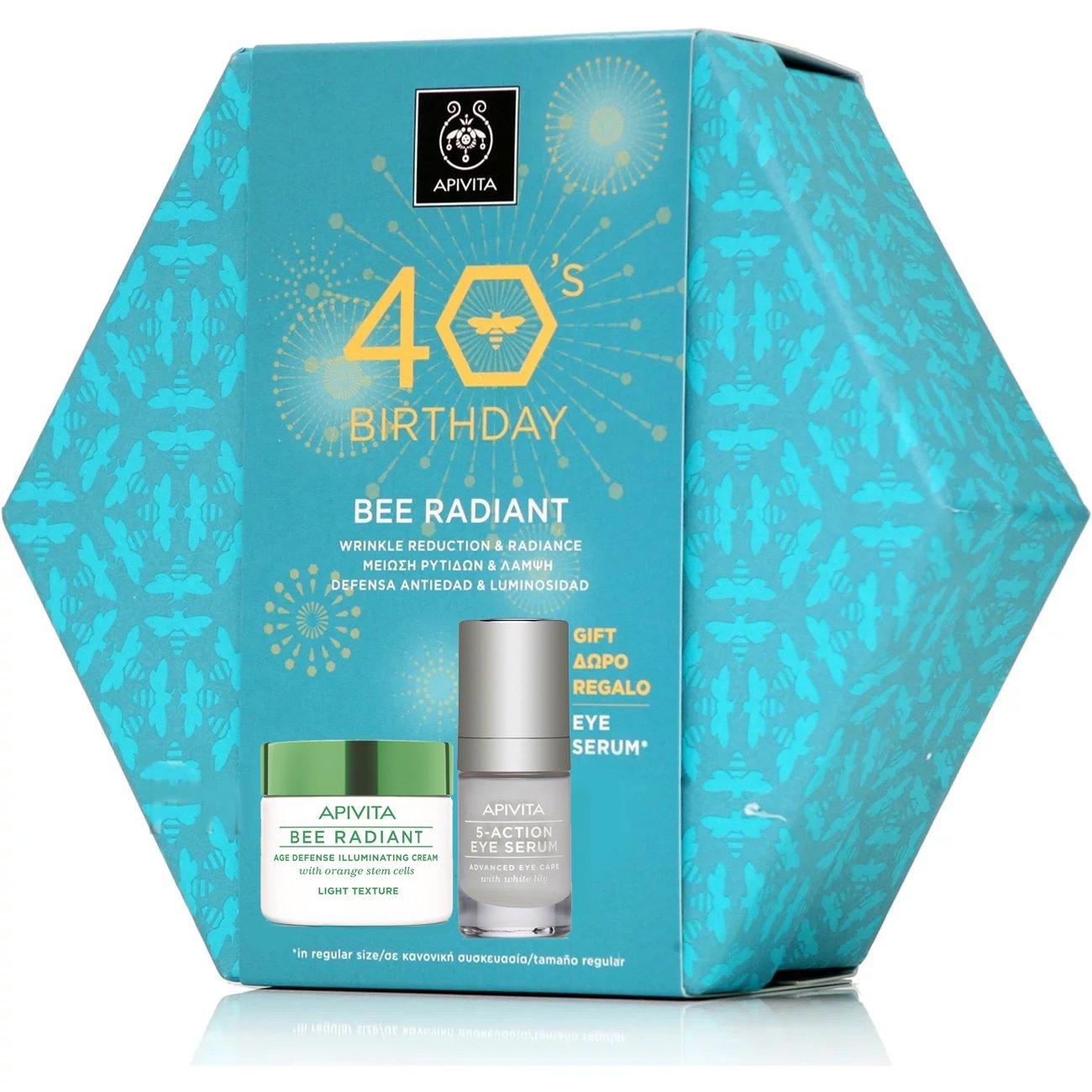 Apivita Πακέτο Προσφοράς 40years Bee Radiant Cream, Light Texture 50ml & Δώρο 5- προσφορές   σετ περιποίησης προσώπου   σετ αντιγήρανσης και σύσφιξης