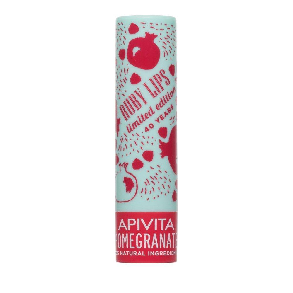 Apivita Lip Care Limited Edition Pomegranate Tinted Ενυδατικό Προστατευτικό Lip Balm Χειλιών με Φυσική Ροζ Απόχρωση 4.4g