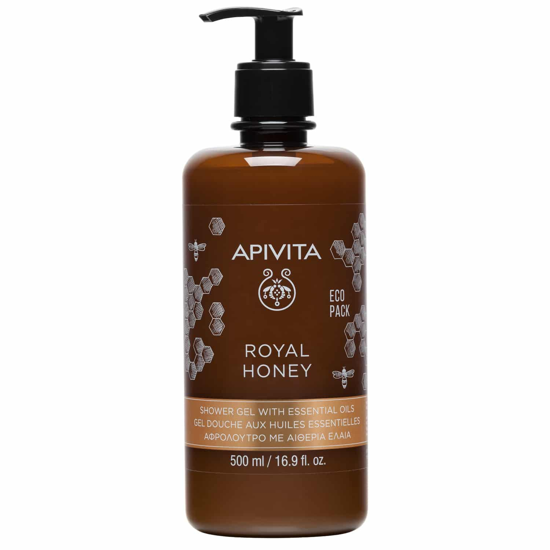 Apivita Royal Honey Shower Gel With Essential Oils Ecopack Κρεμώδες Αφρόλουτρο με Αιθέρια Έλαια & Μέλι 500ml
