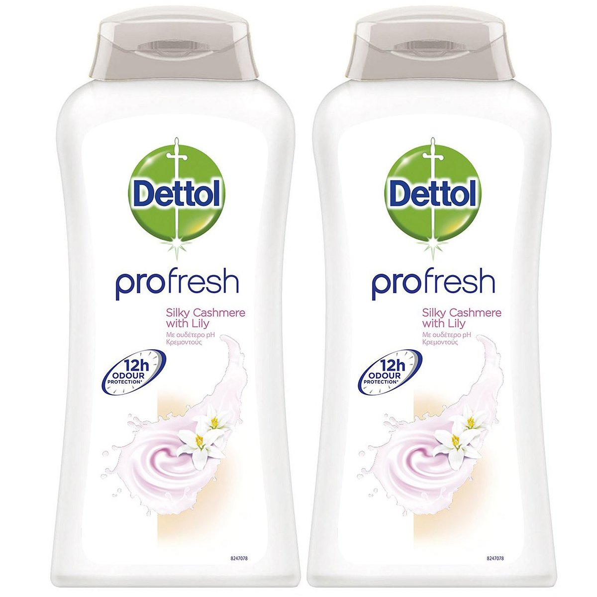 Dettol Profresh Silky Cashmere Δροσερό Κρεμοντούς με Ουδέτερο Ph, Προστασία Ενάντια στα Βακτηρίδια 2x500ml 1+1 Δώρο