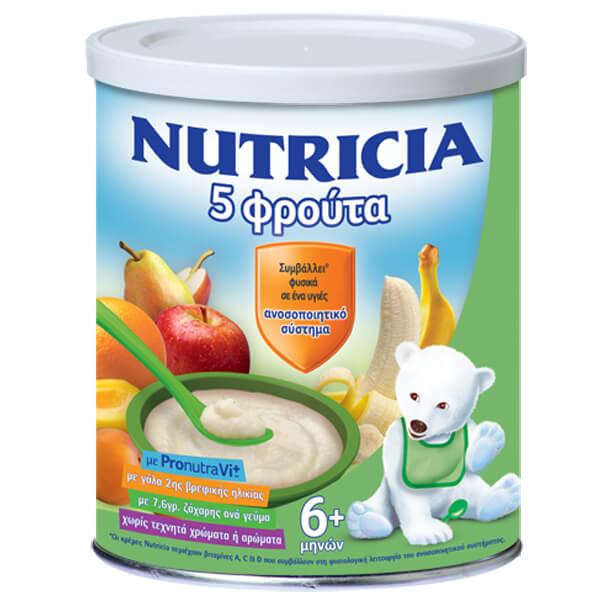 Nutricia Κρέμα 5 Φρούτα 6+ Μηνών 300gr μητέρα παιδί   διατροφή   βρεφικές κρέμες και βιολογικές τροφές