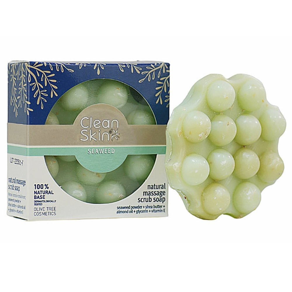 Clean Skin Natural Massage Scrub Soap Φυτικό Σαπούνι Μασάζ & Απολέπισης με Φύκια για Φυσικό Καθαρισμό 100gr σε Ειδική Τιμή